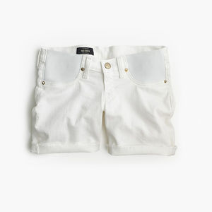 J. Crew maternity denim short in white